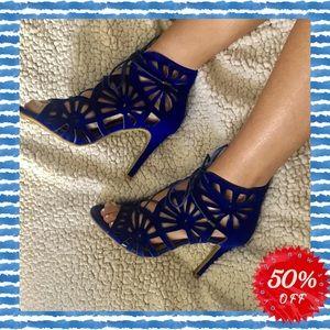 Jolie Paxton Cobalt Blue cutout heels 💙💙💙